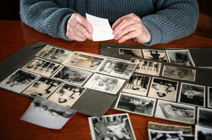 Photos on table