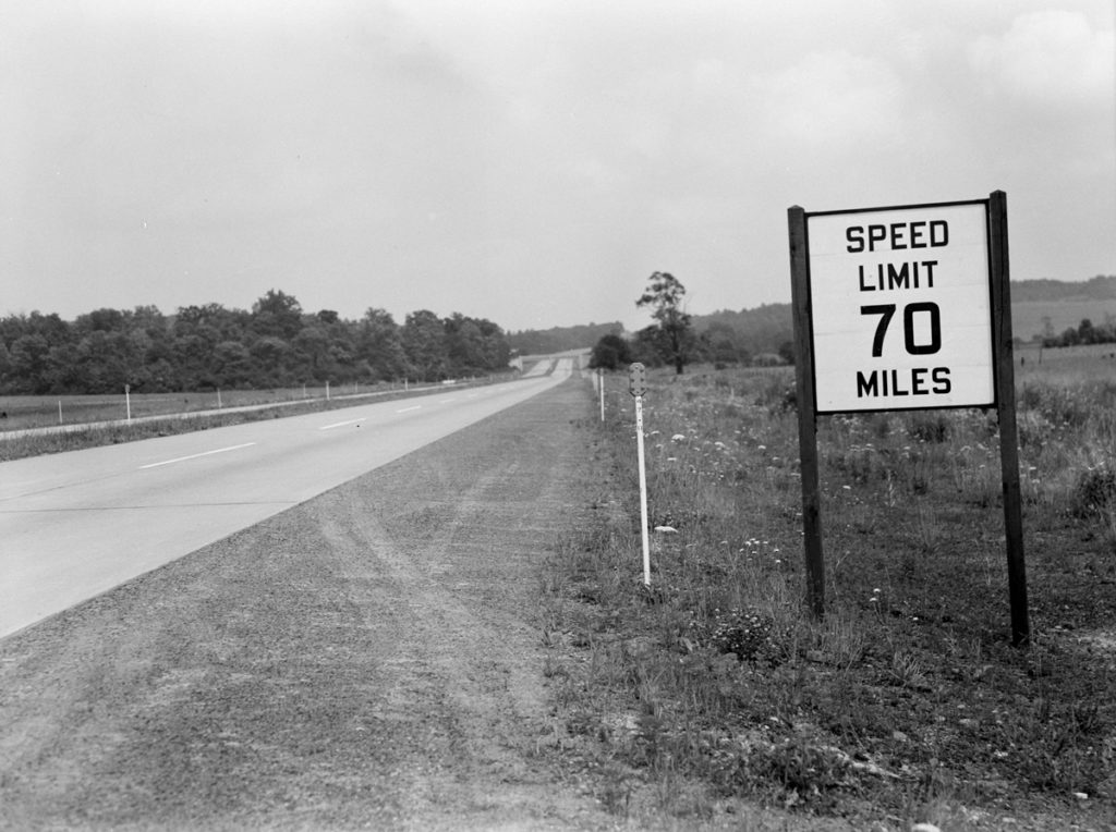 70 mile per hour speed limit sign
