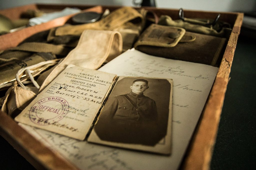 World War I memorabilia with ID and photo of solar